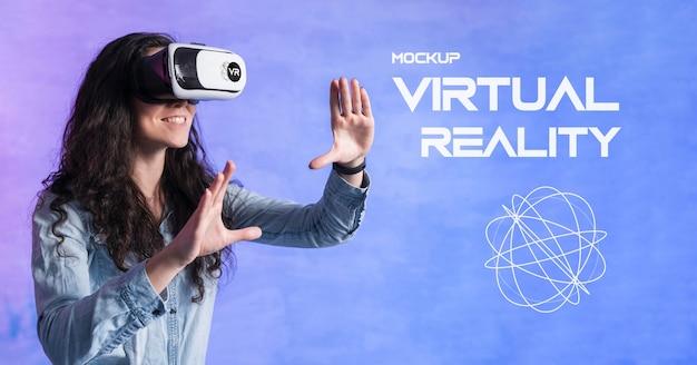 Maqueta de concepto de tecnología de realidad virtual
