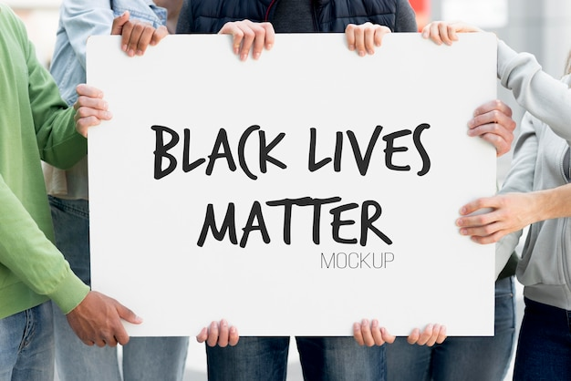 Maqueta de concepto de vida negra importa