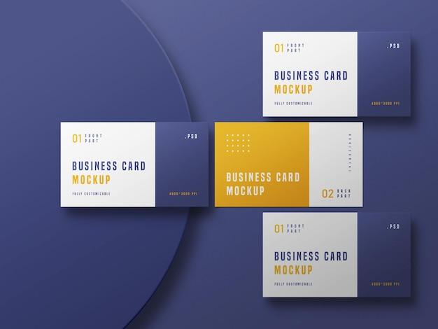 Maqueta de conjunto de tarjetas de visita