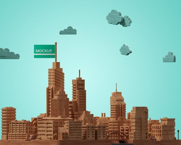 Maqueta de construcción de la ciudad en miniatura
