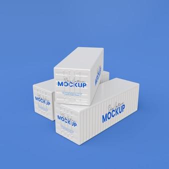 Maqueta de contenedor de barco 3d