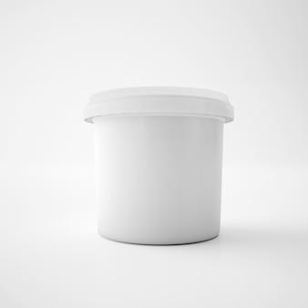Maqueta de contenedor de cubo de bañera de plástico de plantilla