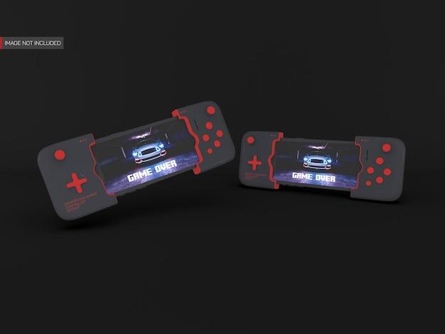 Maqueta de controlador de juegos de teléfono inteligente