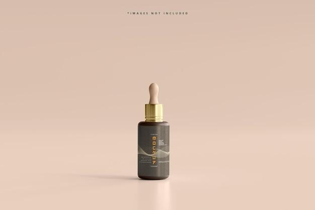 Maqueta cosmética de frasco gotero