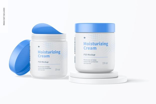 Maqueta de cremas hidratantes de 19 oz