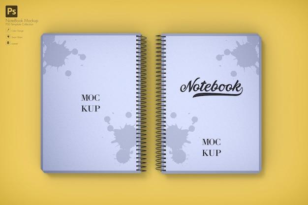 Maqueta de cuaderno en blanco realista aislado