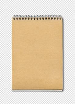 Maqueta de cuaderno cerrado espiral
