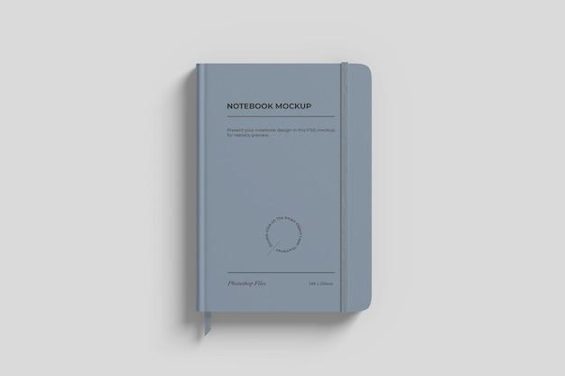 Maqueta de cuaderno con cinta