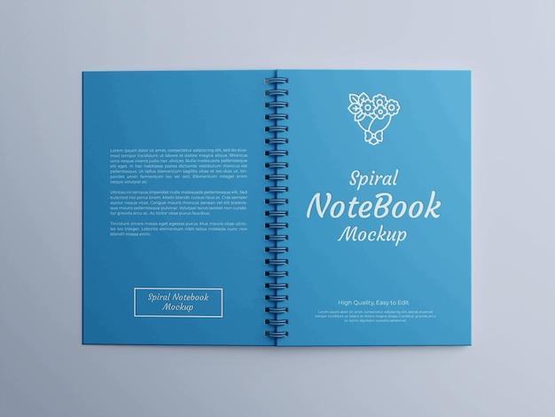 Maqueta de cuaderno de espiral realista