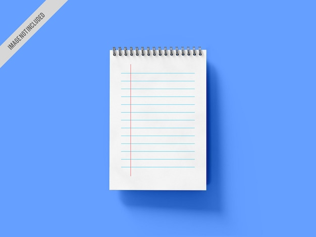 Maqueta de cuaderno en espiral