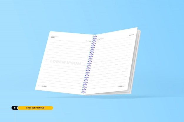 Maqueta de cuaderno espiral