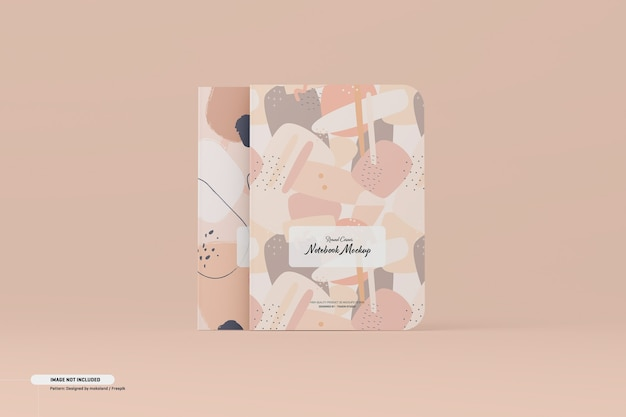 Maqueta de cuaderno de esquina redonda