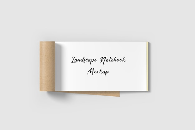Maqueta de cuaderno de paisaje