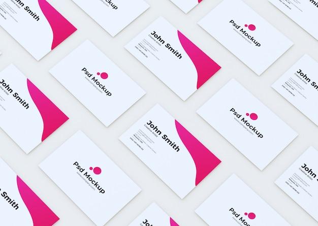 Maqueta de cuadrícula de tarjeta de visita personalizable moderna