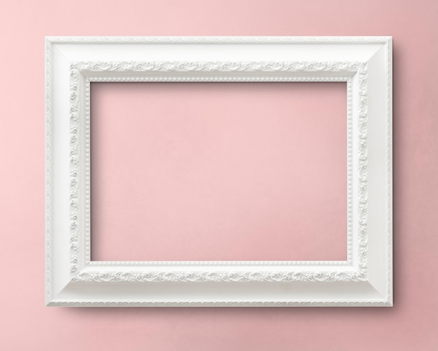 Maqueta de cuadro blanco