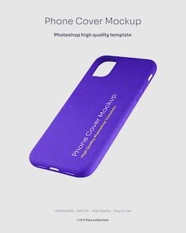 Maqueta de la cubierta de goma del teléfono