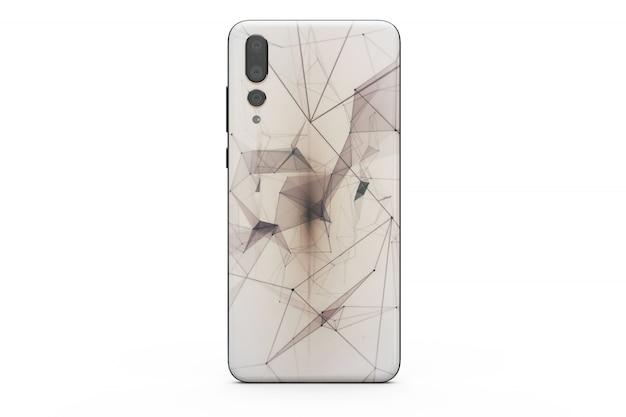 Maqueta de la cubierta del teléfono inteligente