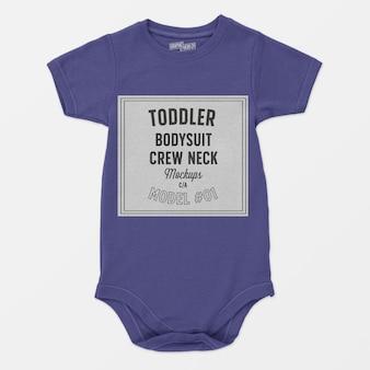 Maqueta de cuello redondo para niño pequeño
