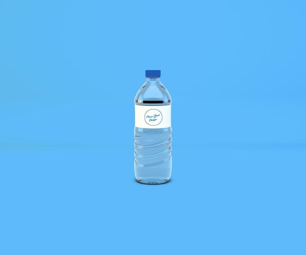 Maqueta de botella de agua potable de pet