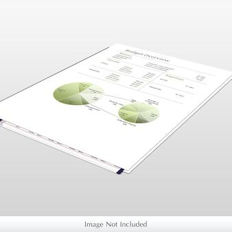 Maqueta de papel infográfico