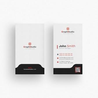 Maqueta de tarjeta de visita blanca y negra