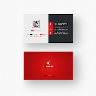 Maqueta de tarjeta de visita moderna
