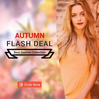 Maqueta de venta de otoño