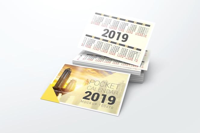 Maqueta del calendario de bolsillo 2019
