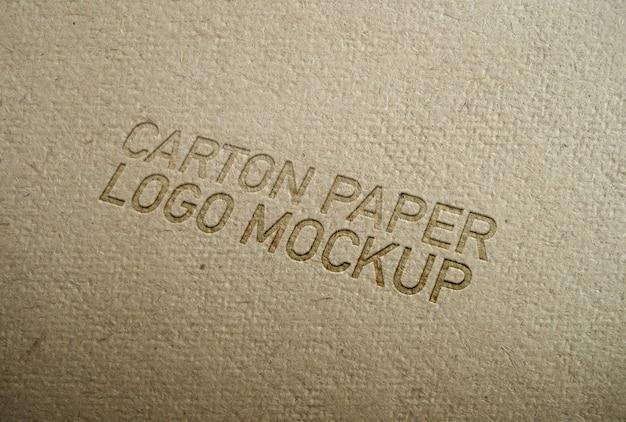Maqueta del logotipo del papel del cartón