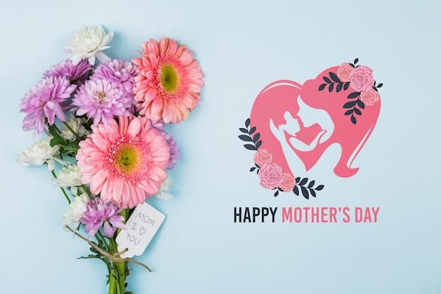 Maqueta del día de la madre con copyspace