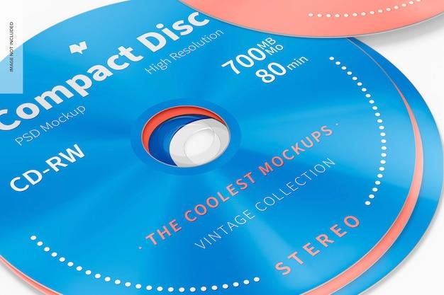 Maqueta de disco compacto, primer plano