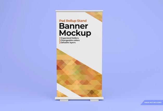 Maqueta de diseño de banner de pie rollup