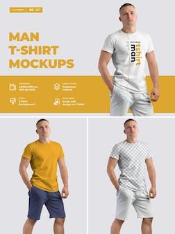 Maqueta de diseño de camisetas masculinas.