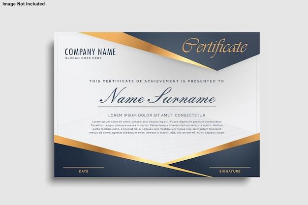 Maqueta de diseño de certificado