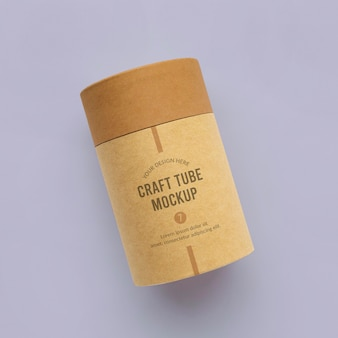 Maqueta de diseño de cilindro de papel artesanal