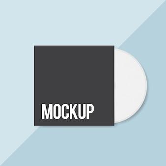 Maqueta de diseño de cubierta de cd en blanco