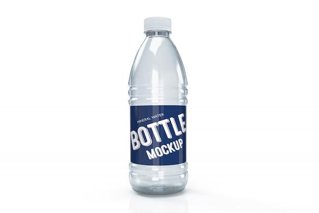Maqueta de diseño de empaque 3d de botella de agua de plástico