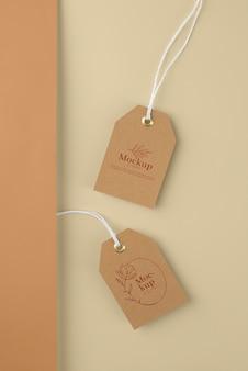Maqueta de diseño de etiqueta artesanal