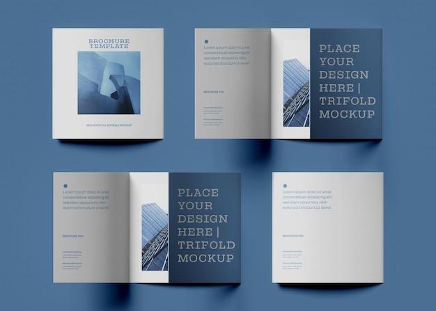 Maqueta de diseño de folleto