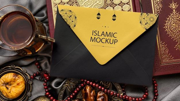 Maqueta de diseño de impresión de ramadán