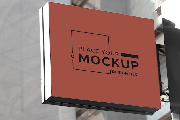 Maqueta de diseño de letrero de la ciudad
