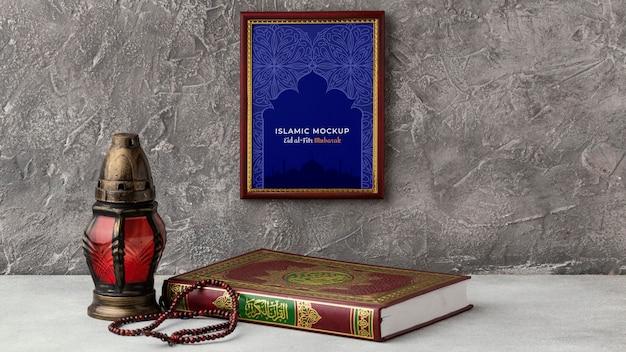Maqueta de diseño de marco de ramadán