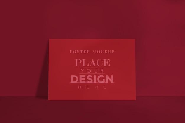 Maqueta de diseño de póster para el diseño de galería de imágenes, exposición y presentación