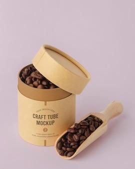 Maqueta de diseño realista de cilindro artesanal