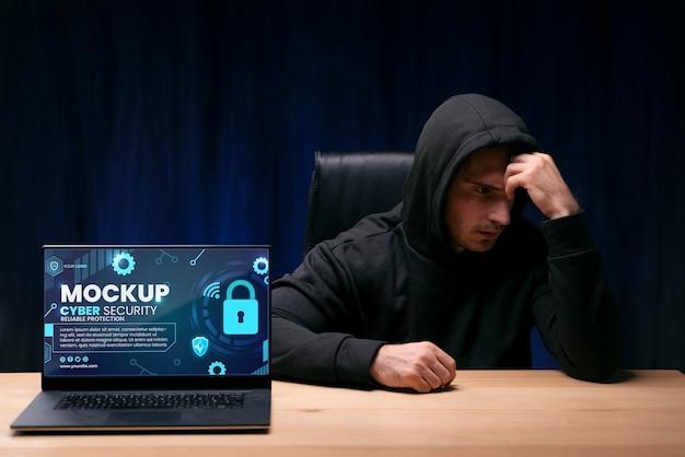 Maqueta de diseño de seguridad cibernética