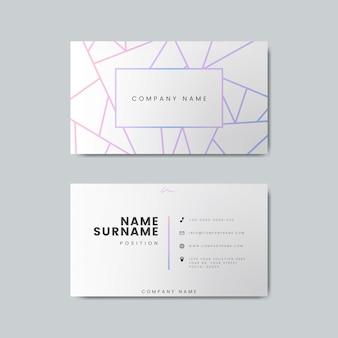 Maqueta de diseño de tarjeta de visita en blanco