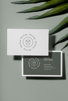 Maqueta de diseño de tarjeta de visita de visita