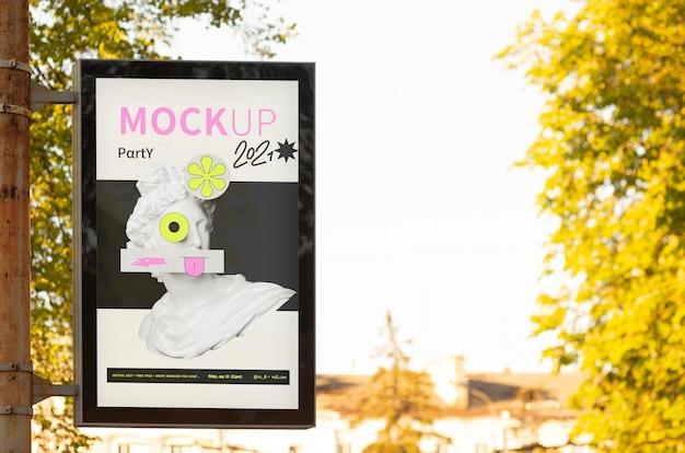 Maqueta de diseño de vallas publicitarias de la ciudad