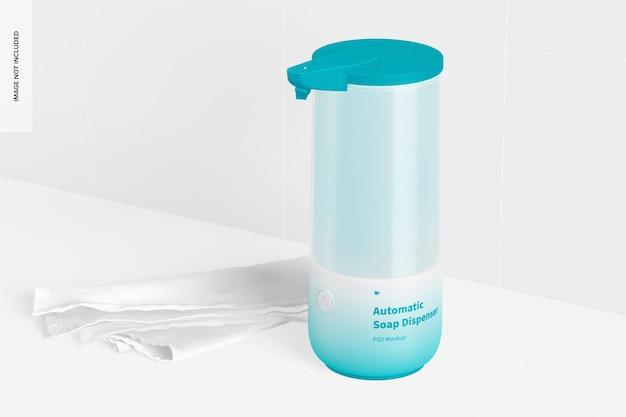 Maqueta de dispensador de jabón automático, vista izquierda