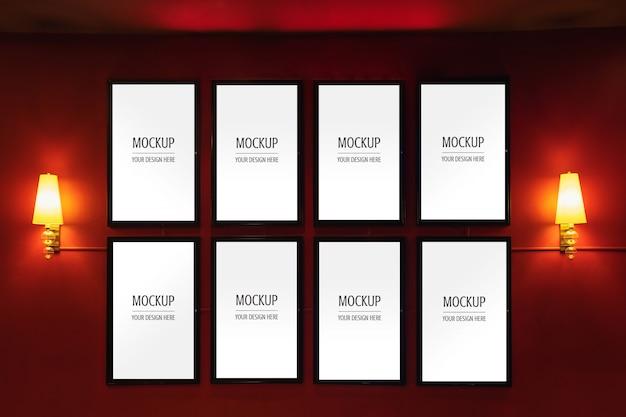 Maqueta de display frame movie poster cinema light box